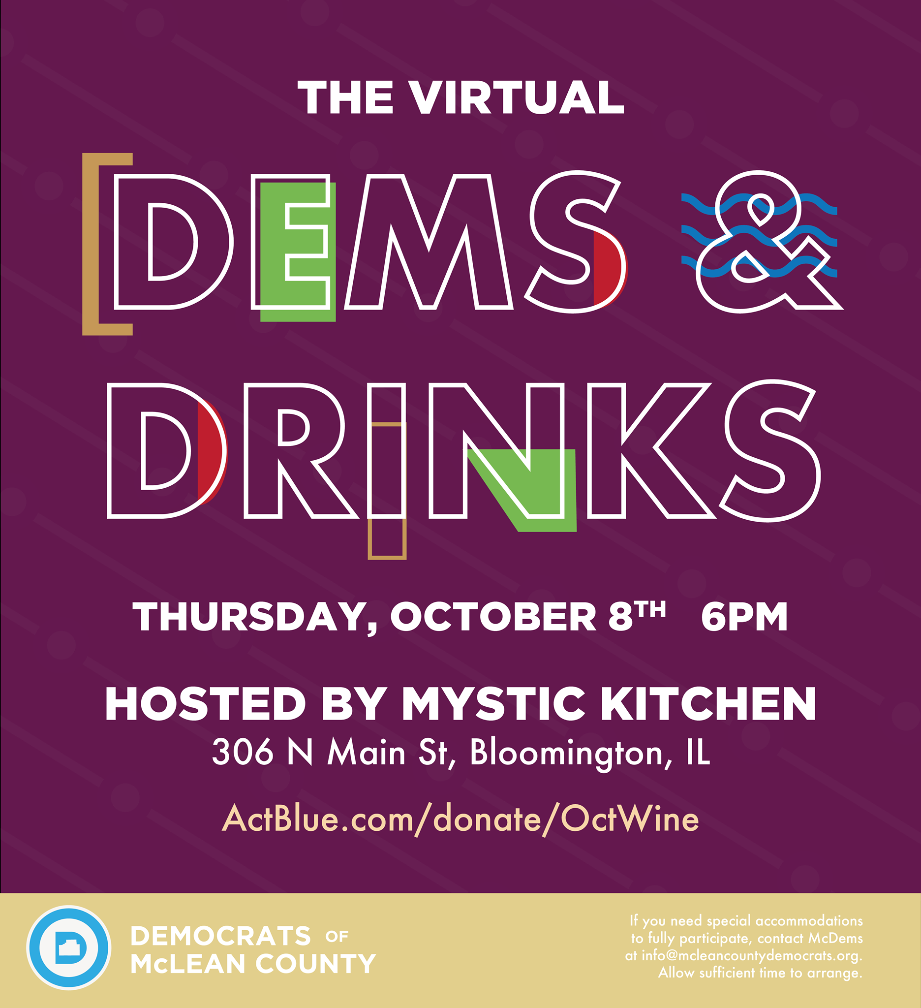 Dems and Drinks October 2020