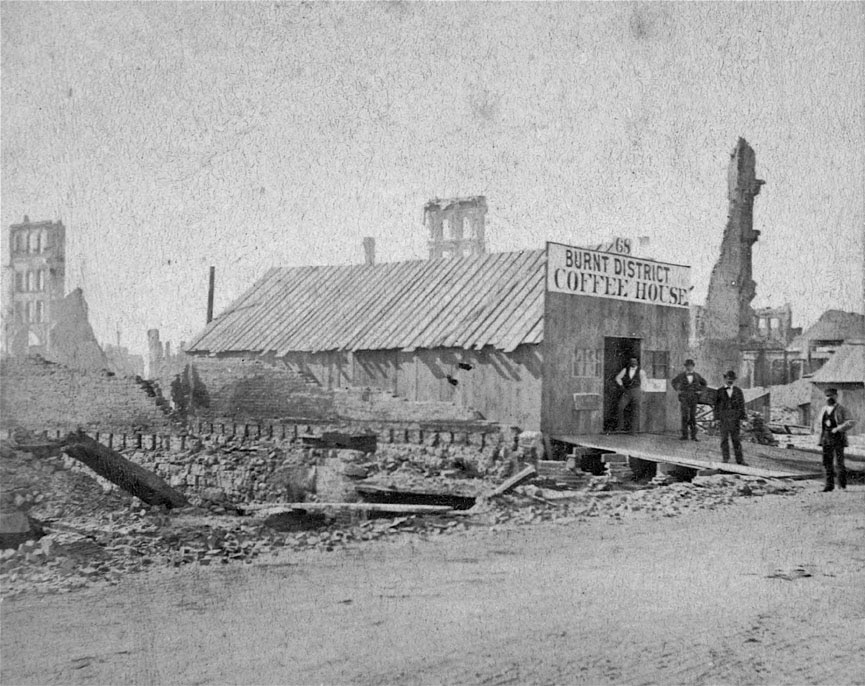 1871                                                          chicago cafe                                                          after fire