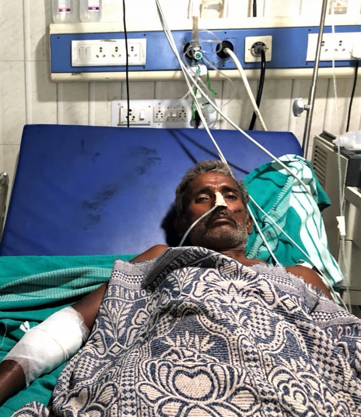 Pastor Madira Koti Reddy recovering in hospital. (Morning Star News)
