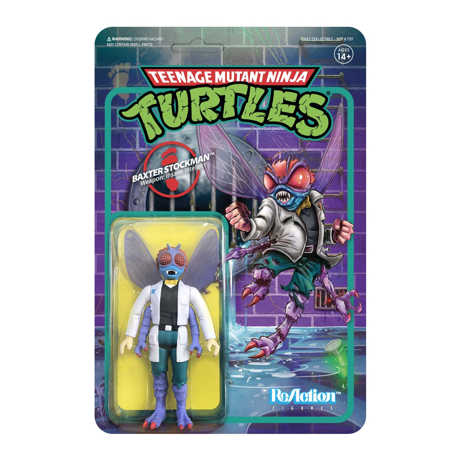 """Image of TMNT Reaction 3.75"""" Figures - Baxter Stockman - JULY 2020"""