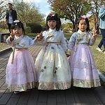 Korean children in hanbok dress
