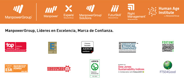 ManpowerGroup, Experis, Manpower, ManpowerGroup Solutions, FuturSkill, Right Management, Fundación ManpowerGroup y Human Age Institute