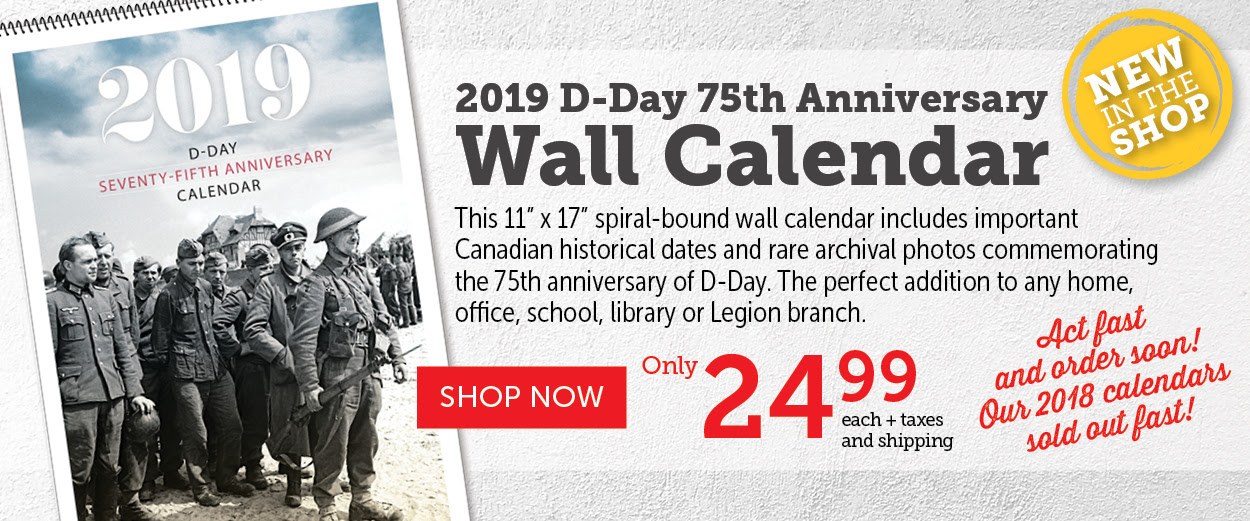 2019 D-Day 75th Anniversary Wall Calendar