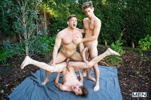 MEN - Get Your Dick Outta My Son Part 3: Bareback (Bruce Beckham, Michael DelRay & Zander Lane)