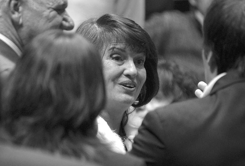 Elena Martínez, nueva ministra de la Suprema Corte de Justicia, el miércoles en la Asamblea General. • Foto: Santiago Mazzarovich