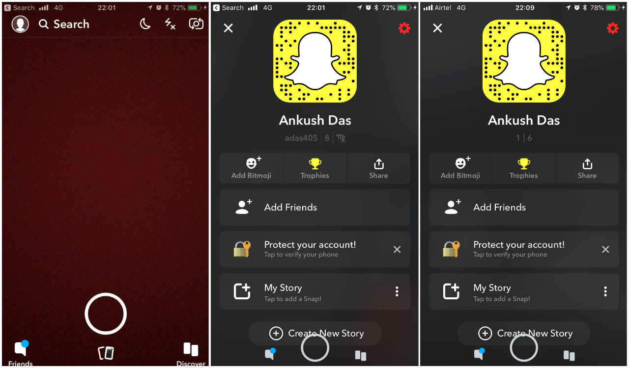 how to view snapchat profile