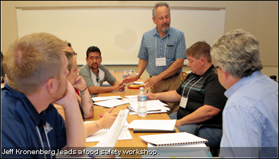 Jeff Kronenberg leads a food safety workshop.