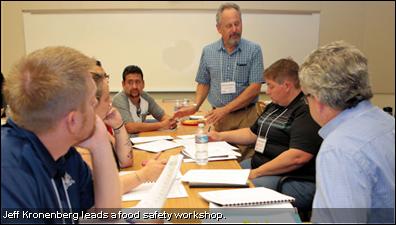 Jeff Kronenberg leads a food safety workshop.