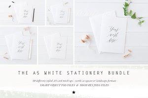 BUNDLE - A5 stationery cards mock up