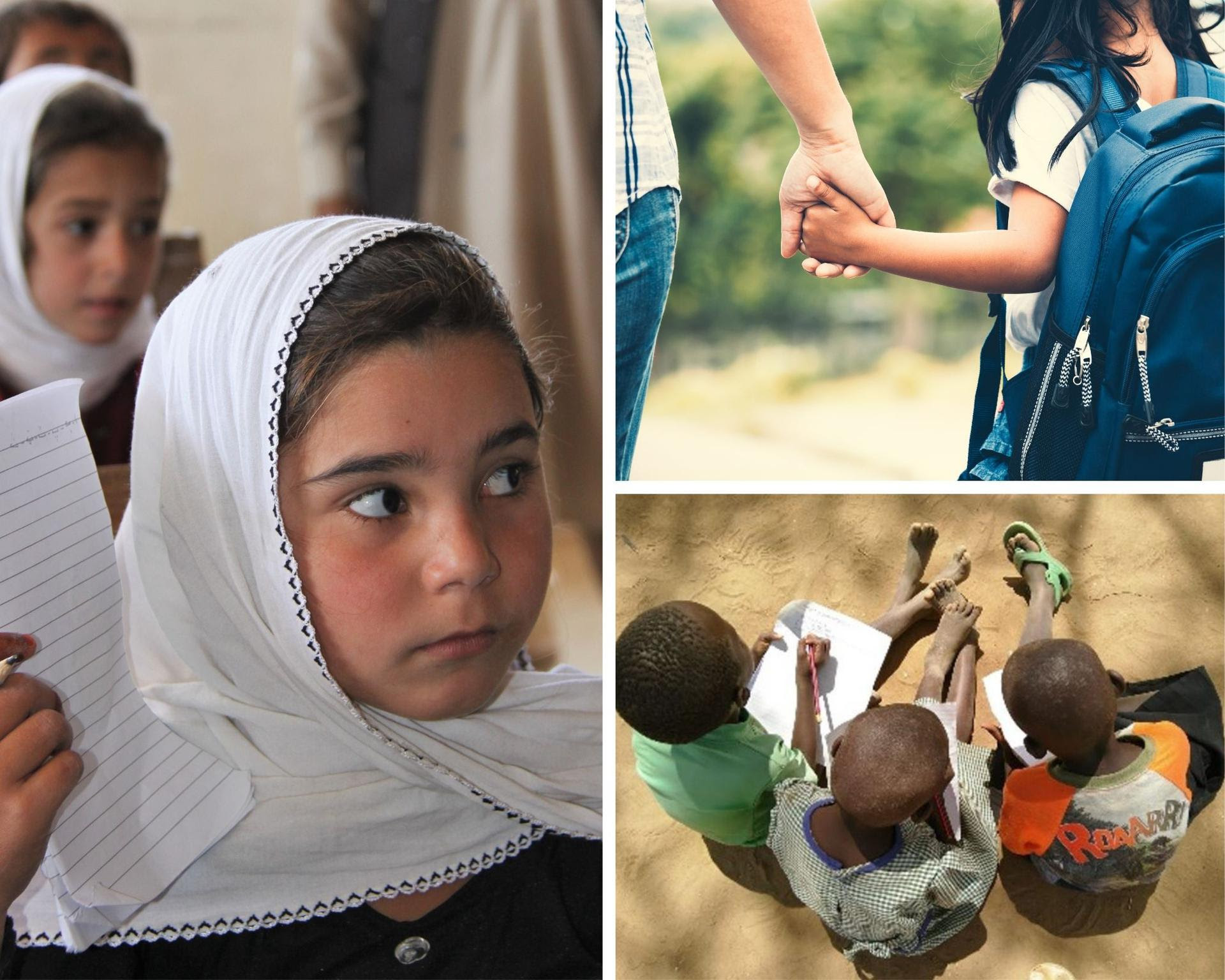 Bambini in Afghanistan, Italia, Uganda