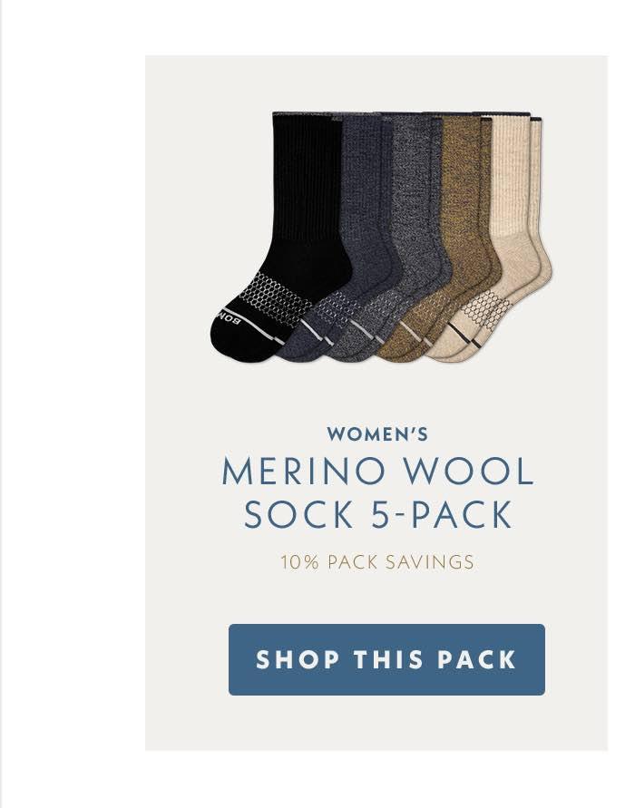 Women's Merino Wool Sock 5-Pack