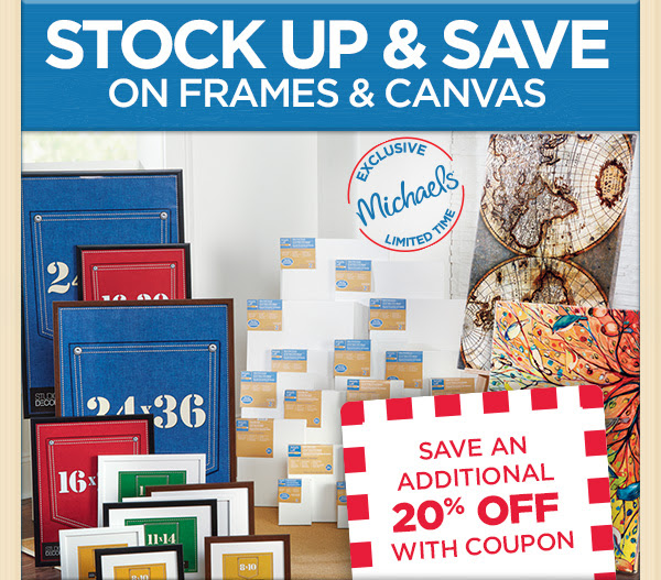 stock up & save on frames & canvas