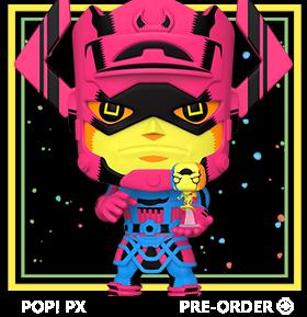 Pop! Marvel: Fantastic Four - Galactus w/ Silver Surfer (Black Light Ver.) PX Previews Exclusive