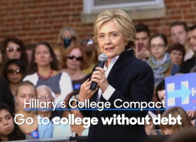 Hillary Clinton debt-free college TV ad.