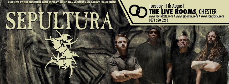 Sepultura @ Live Rooms, Chester