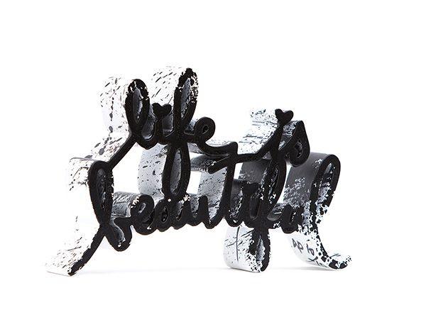 Life is Beautiful Black Splash Edition - opera di Mr.Brainwash in vendita presso la Galleria Deodato Arte