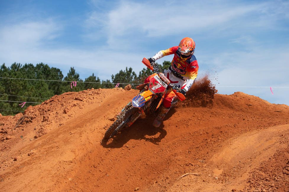 Kailub Russell is hoping to continue his success and earn the FMF Steele Creek win.