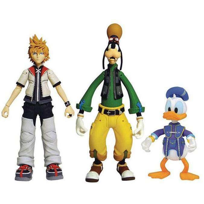 Image of Kingdom Hearts Select Roxas, Donald, & Goofy