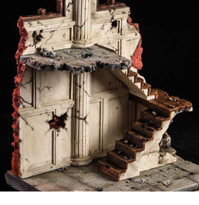 Ruins Of Building 1/12 Scale Diorama Base