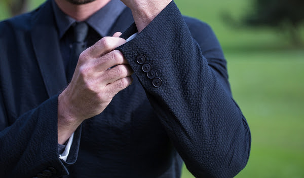 Black Seersucker Suit