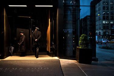 The Trump SoHo building, a 46-story luxury condominium-hotel in Lower Manhattan.