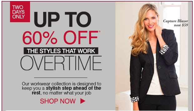 Save Up to 60% OFF On Selected Styles For Work + Free Priority Delivery Upgrade On Orders $150 at Ezibuy.com.au
