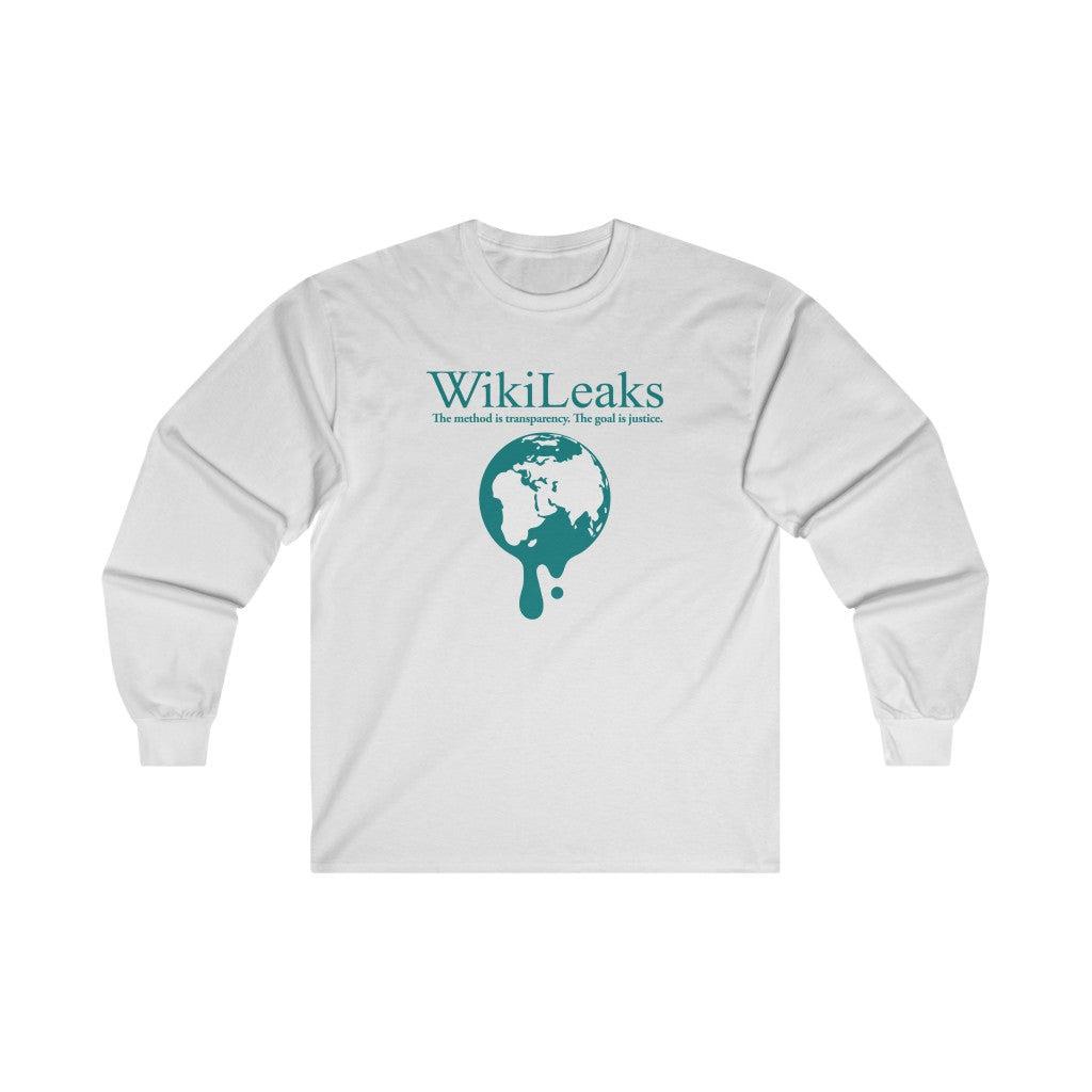 WikiLeaks Dripping Globe - Unisex Long Sleeve Tee