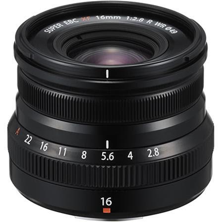 XF 16mm F2.8 R (Weather Resistant) Lens, Black