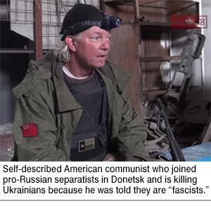 American communist fighting against Ukraine