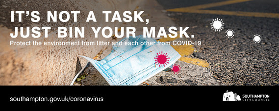 PPE mask litter covid-19 COVID-19 Coronavirus footer