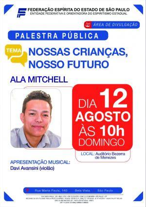 Ala Mitchell palestra sobre o futuro das crianças