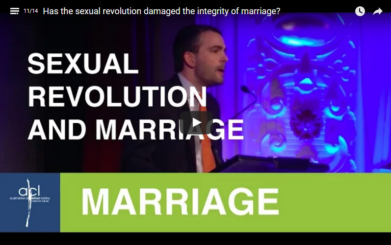Link to video: Has the sexual revolution damaged the integrity of marriage?