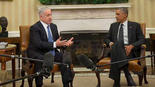 Netanyahu and Obama at White House in 2014 (Photo: AP)