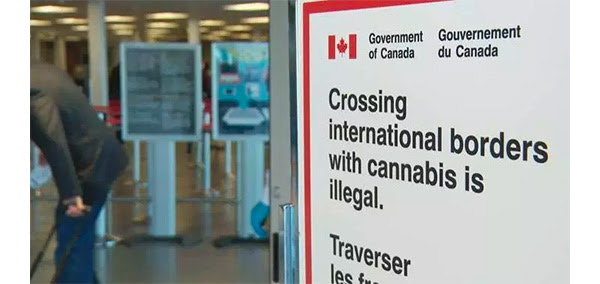Crossing international borders with cannabis is illegal.