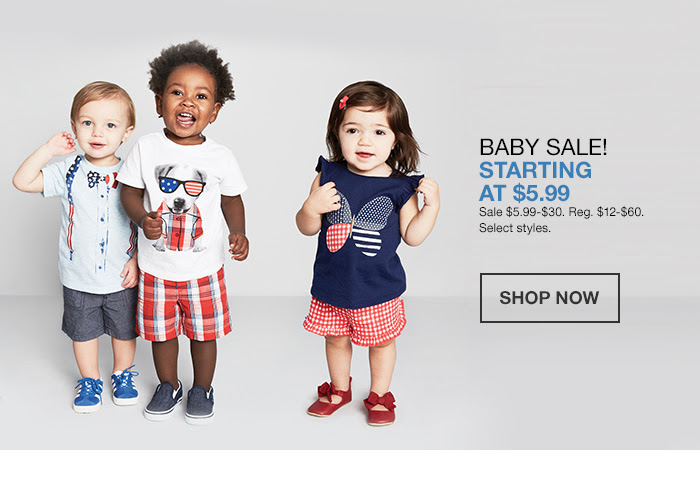Baby Sale! Starting at $5.99, Shop Now