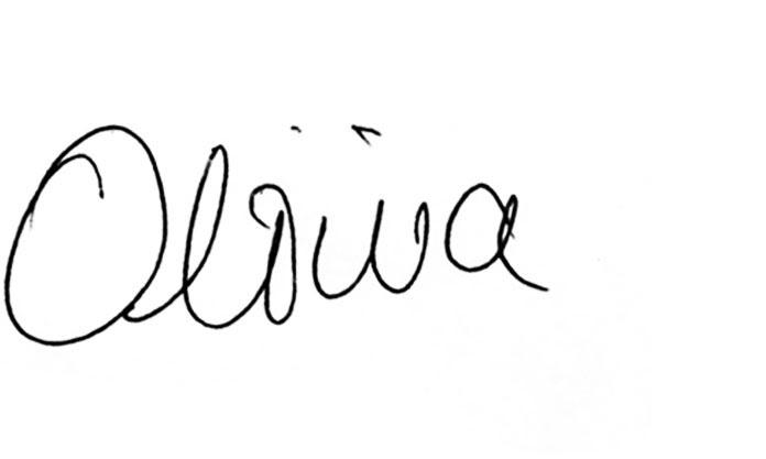 Olivia's Signature