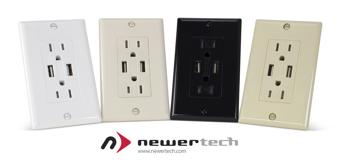 Next Generation NewerTech Power2U Dual USB Wall Outlet