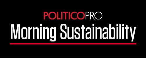 POLITICO Pro's Morning Sustainability newsletter logo