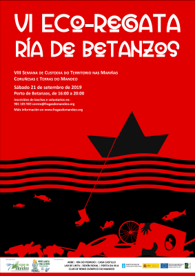 Imaxe do cartel da VI Eco-regata Ría de Betanzos