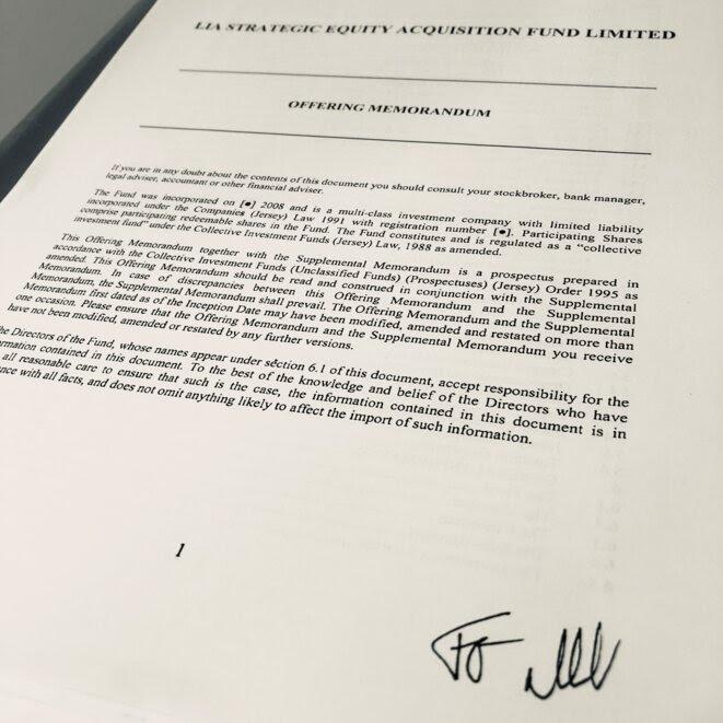 Contrat libyen signé de la main de Frédéric Oudéa. © DR