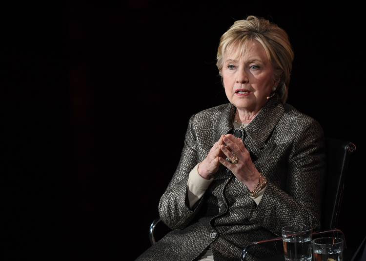 Hillary Clinton speaks in April during the Women in the World Summit at the Lincoln Center for the Performing Arts in New York City. (Angela Weiss/AFP/Getty Images)