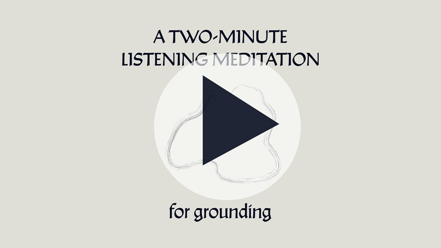cover and play button for audio meditation on youtube