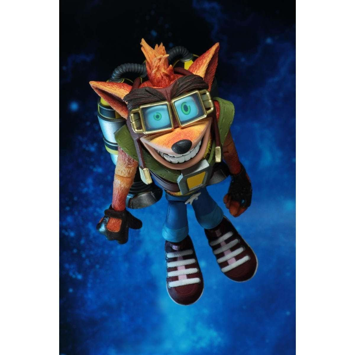 "Image of Crash Bandicoot - 7"" Scale Action Figure - Deluxe Crash with Jetpack"