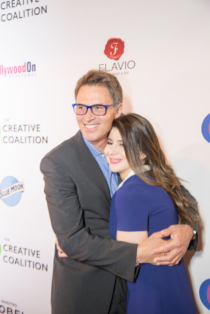 The Creative Coalitions President Tim Daly and TV daughter Kathrine Herzer  Madame Secretary