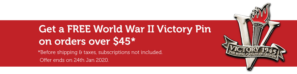 Get a FREE World War II Victory Pin on orders over $45!