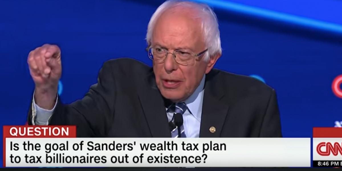 Photo of Bernie at the debate last week
