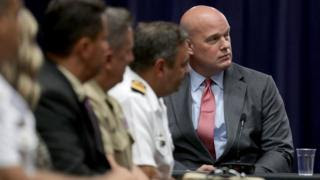Whitaker participates in a US Department of Justice roundtable discussion