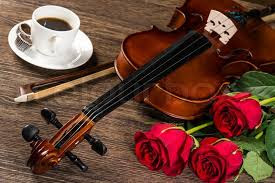 Image result for piano, coffee, roses