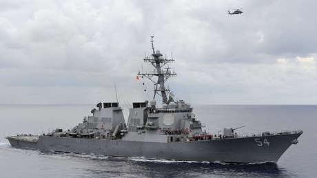 El destructor de misiles guiados USS Curtis Wilbur.