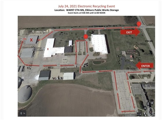 July 24 Recycling Event Traffic Map